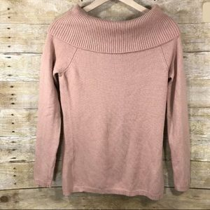 Ann Taylor Wool Cashmere Blush Cowl Neck Sweater M